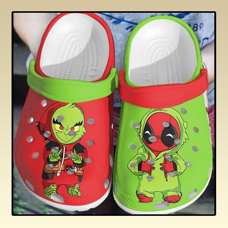Baby deadpool baby Grinch crocs log crocband2