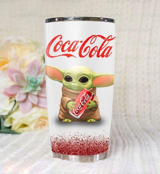 Baby yoda coca cola tumbler