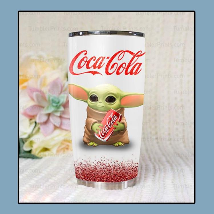 Baby yoda coca cola tumbler4