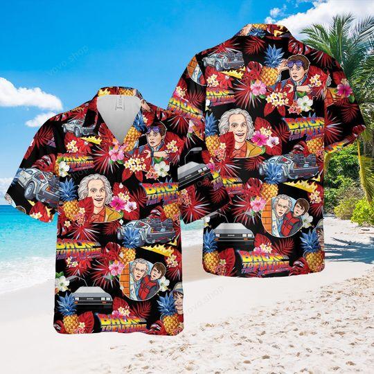 Back to the future music Hawaiian Shirt