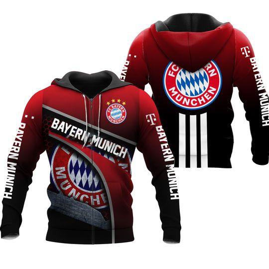 Bayern Munich 3d all over print Hoodie