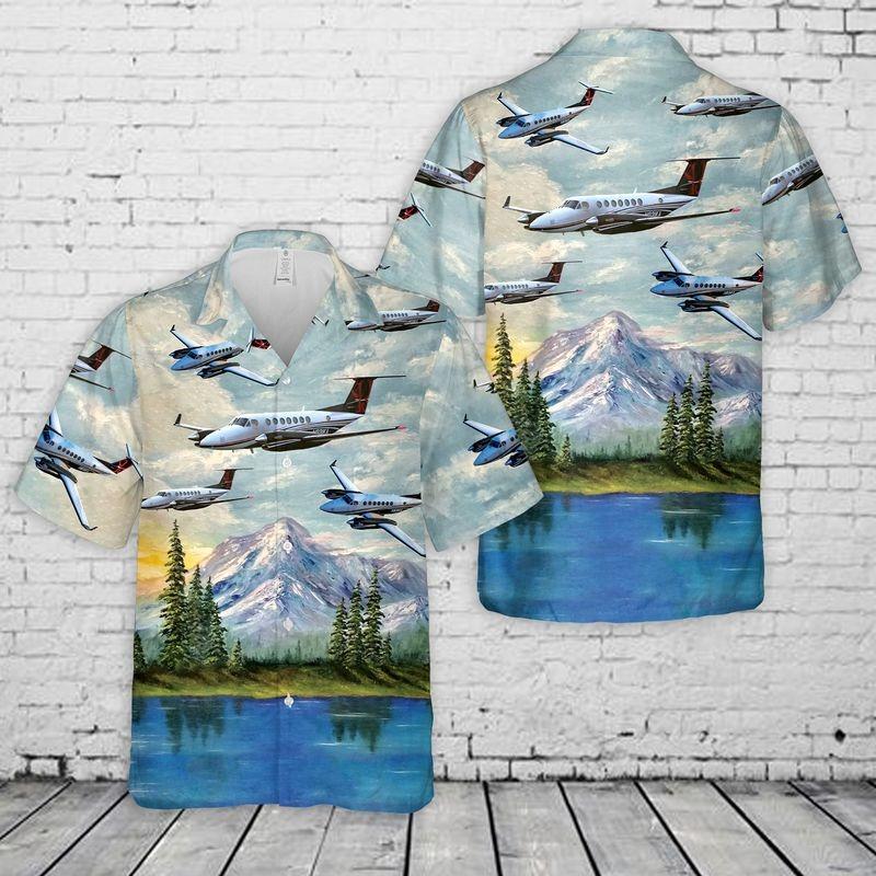 Beechcraft King Air 350 Hawaiian Shirt 1