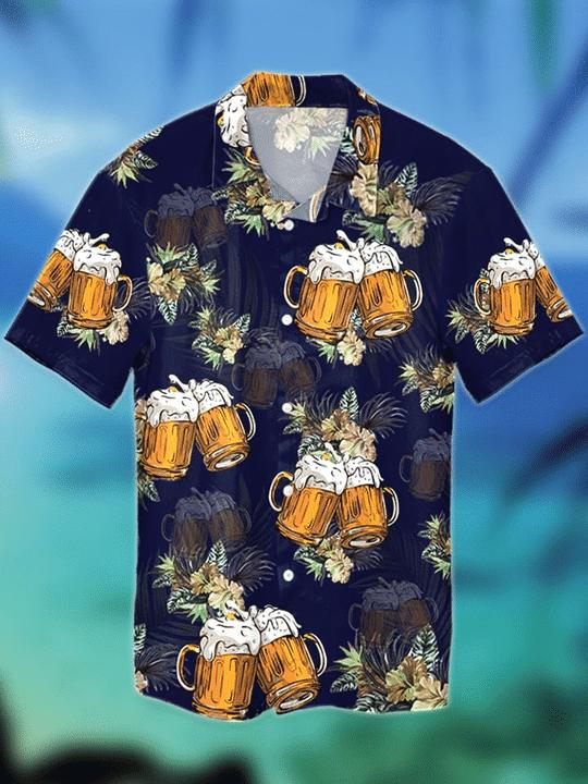 Beer tropical hawaiian shirt