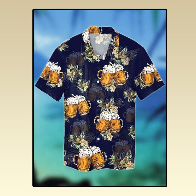 Beer tropical hawaiian shirt3