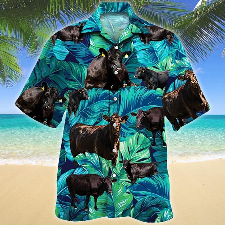 Black Angus Cattle Lovers Hawaiian Shirt3