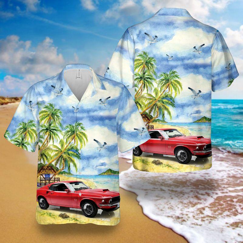 Boss 429 Mustang Hawaiian Shirt