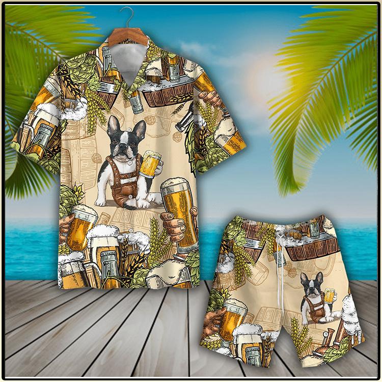 Boston Terrier And Beer Hawaiian Shirt And Short3