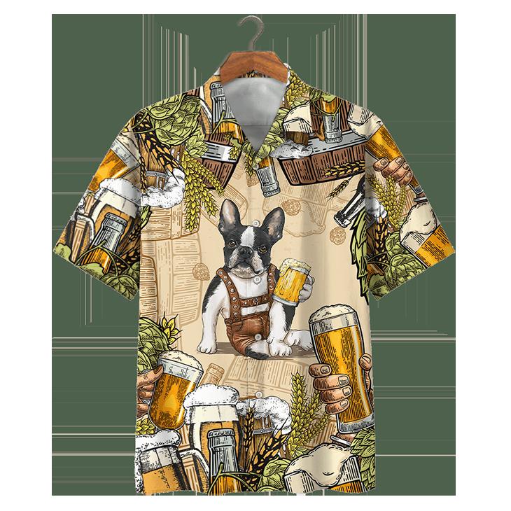 Boston Terrier Beer Hawaiian Shirt1
