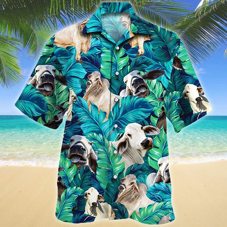 Brahman Cattle Lovers Hawaiian Shirt2