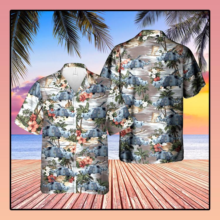 British Army Agustawestland AW159 Wildcat Hawaiian Shirt2