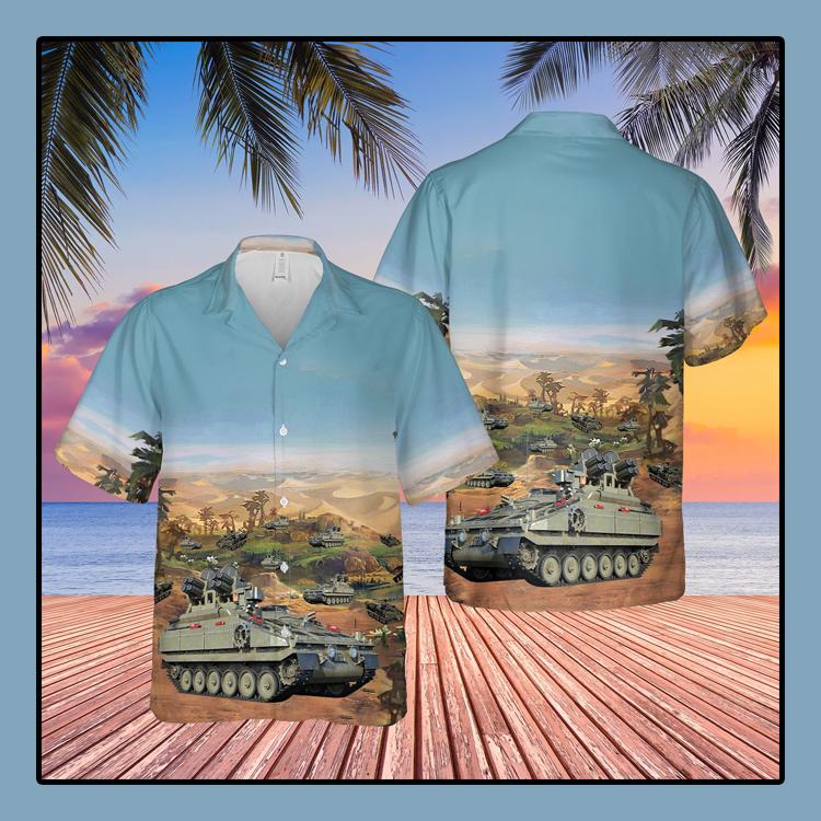 British Army Alvis Stormer HVM Compat Vehicle Hawaiian Shirt1