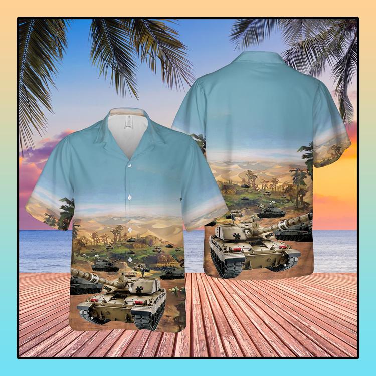 British Army Challenger 2 Compat Vehicle Hawaiian Shirt1