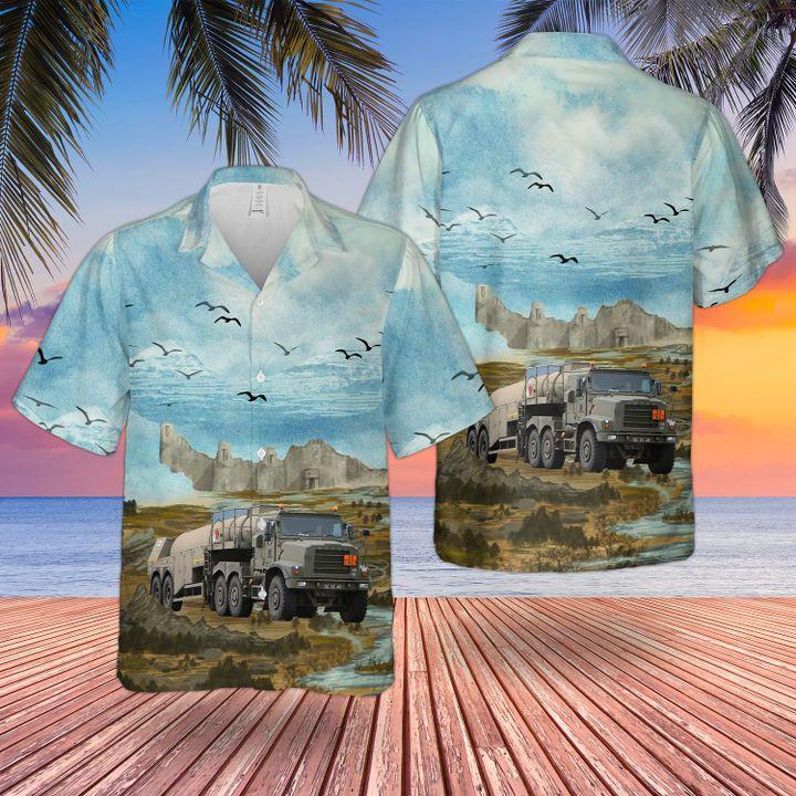 British Army Close Support tanker hawaiian and beach short