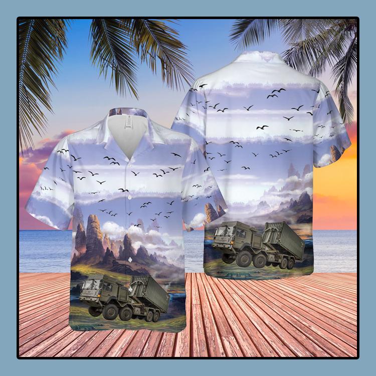British Army Enhanced Pallet Load System EPLS Hawaiian Shirt3