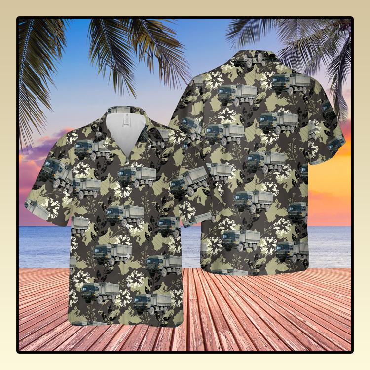 British Army Man SV Support Vehicle Hawaiian Shirt3