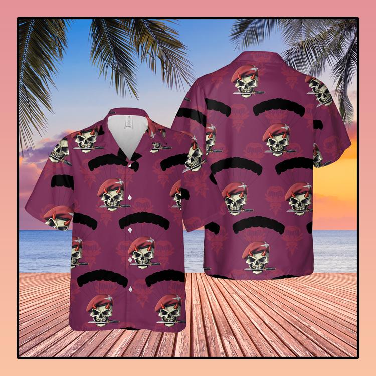 British Army Parachute Red Devils Hawaiian Shirt2