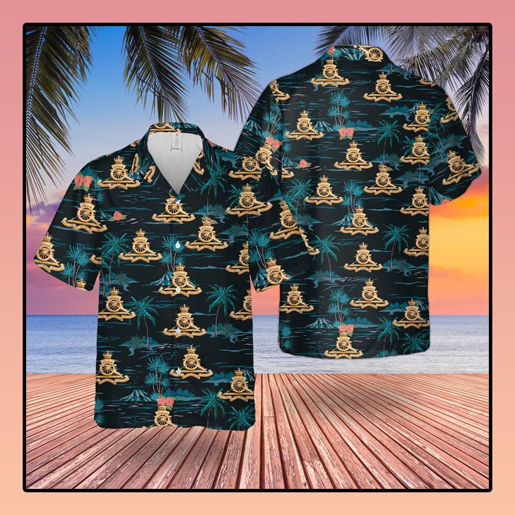 British Army Royal Atillery Hawaiian Shirt2