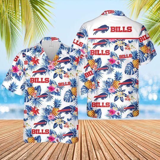Buffalo Bills Football aloha Hawaiian Shirt