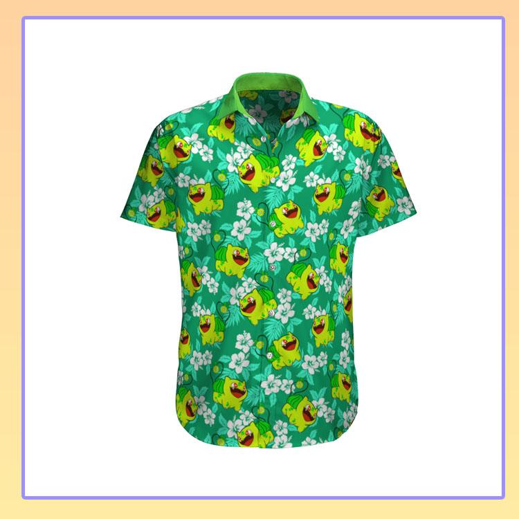 Bulbasaur Pokemon Hawaiian Shirt1