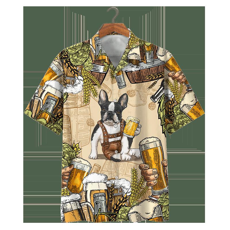 Bull Boston Terrier And Beer Hawaiian Shirt And Short