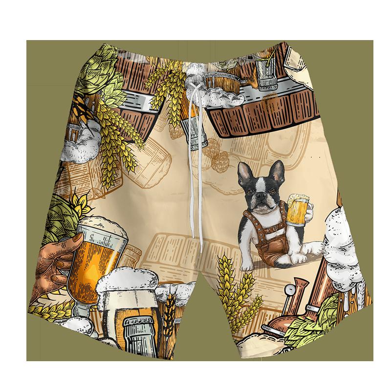Bull Boston Terrier And Beer Hawaiian Shirt And Short2