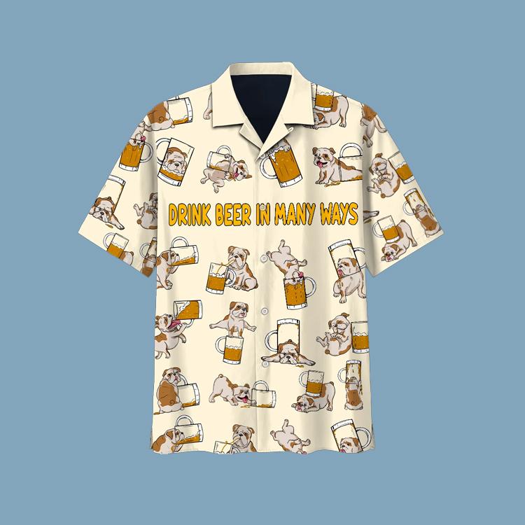 Bulldog beer hawaiian shirt1