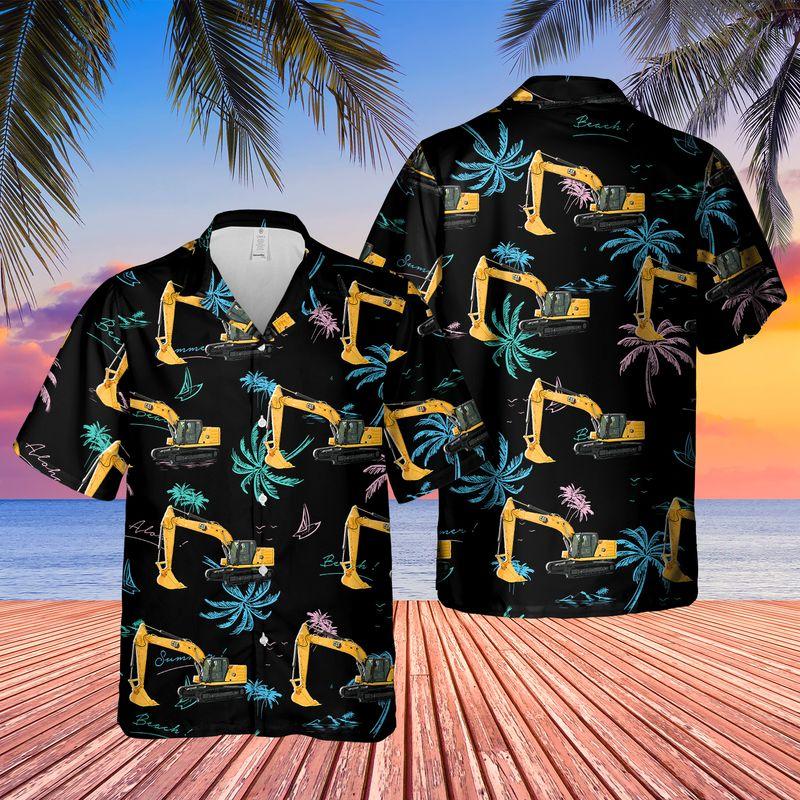 CAT 320 Excavator Hawaiian Shirt