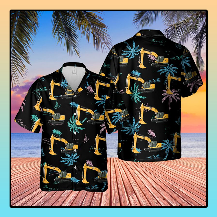CAT 320 Excavator Hawaiian Shirt3 1