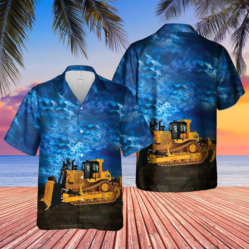 CAT D9 Dozer Hawaiian Shirt