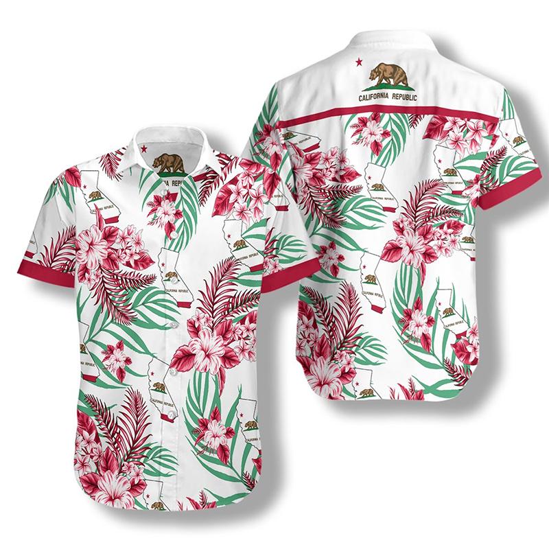 California Proud Proud Hawaiian Shirt2