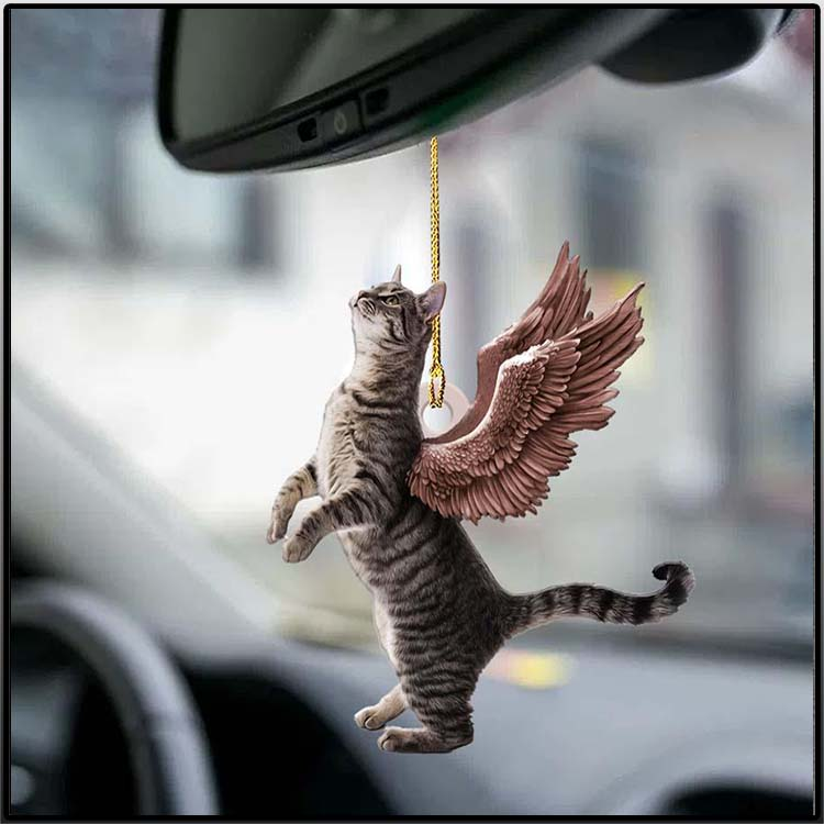 Cat Angle Wings Two Sideda Ornament2