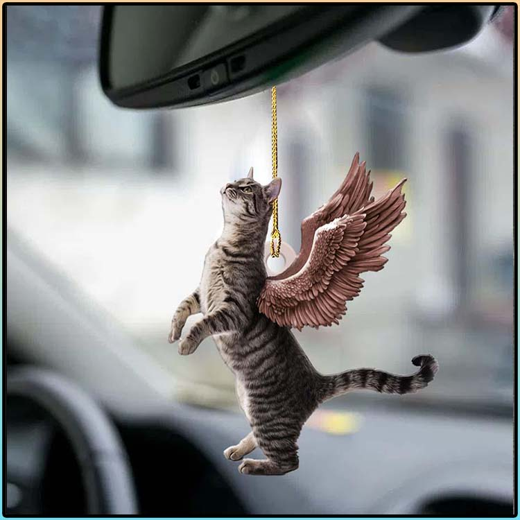 Cat Angle Wings Two Sideda Ornament3