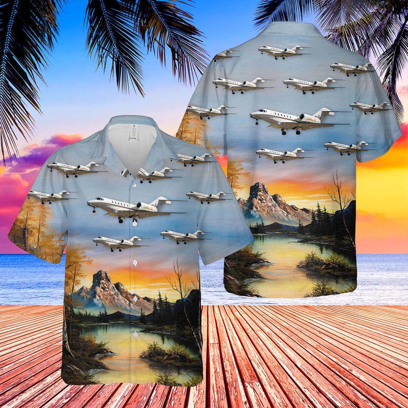 Cessna 750 Citation X Hawaiian Shirt 1