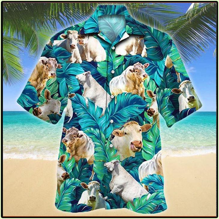 Charolais Cattle Lovers Hawaiian Shirt1