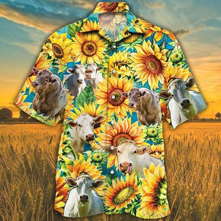 Charolais Cattle Lovers Hawaiian Shirt4