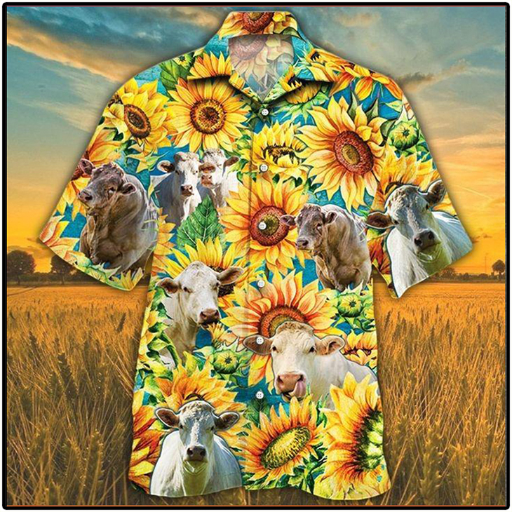 Charolais Cattle Lovers Hawaiian Shirt5 1