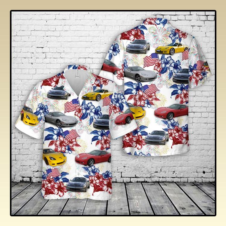 Chevrolet Corvette C6 Flag Hawaiian Shirt4 1