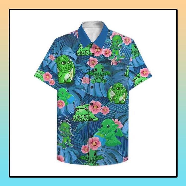 Chthulu Funny Hawaiian Shirt1