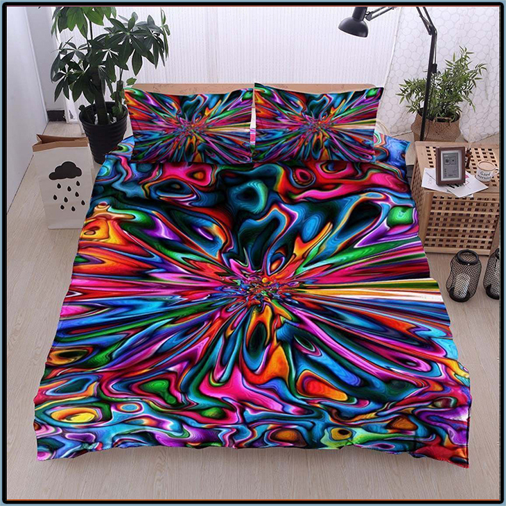Colorful Hippie Lover Bedding Set3