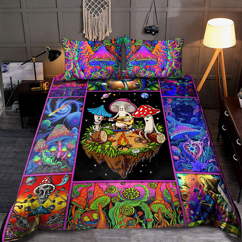 Colorful Mushroom Hippie Bedding Set2