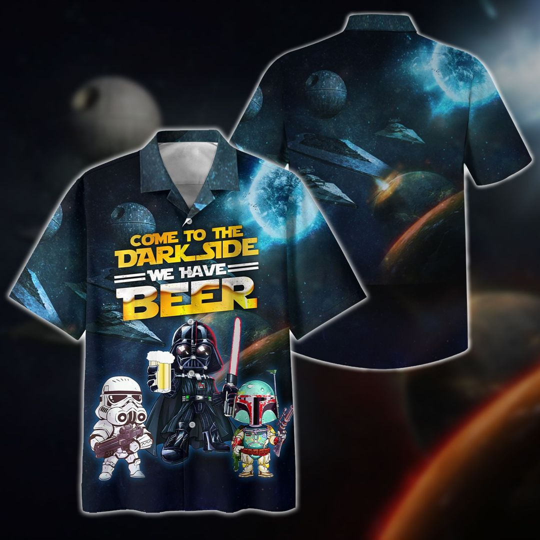 Come To The Dark Side We Have Beer Hawiian Shirt
