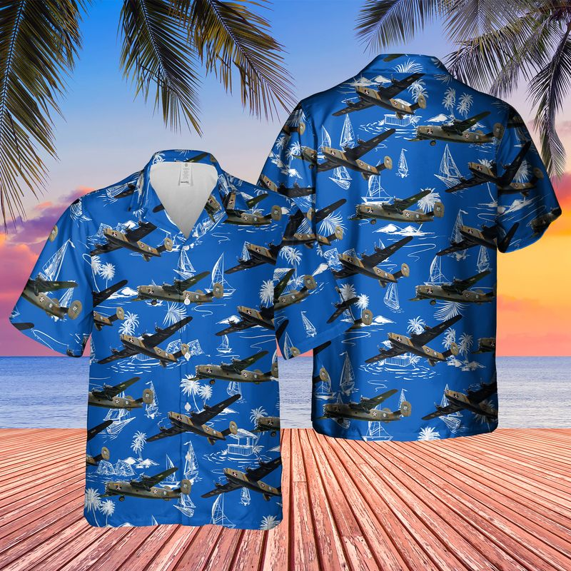 Consolidated B 24 Liberator Diamond Lil Hawaiian Shirt