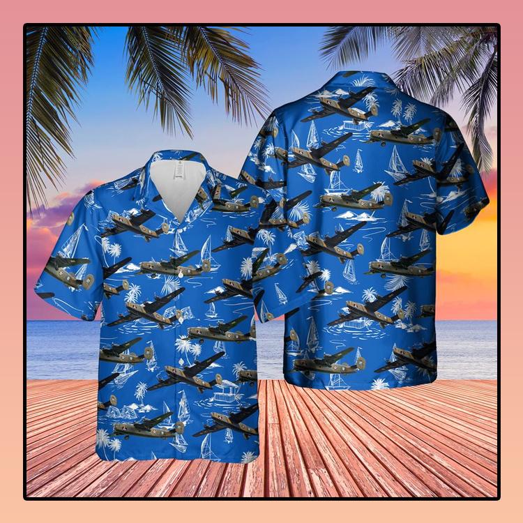 Consolidated B 24 Liberator Diamond Lil Hawaiian Shirt3