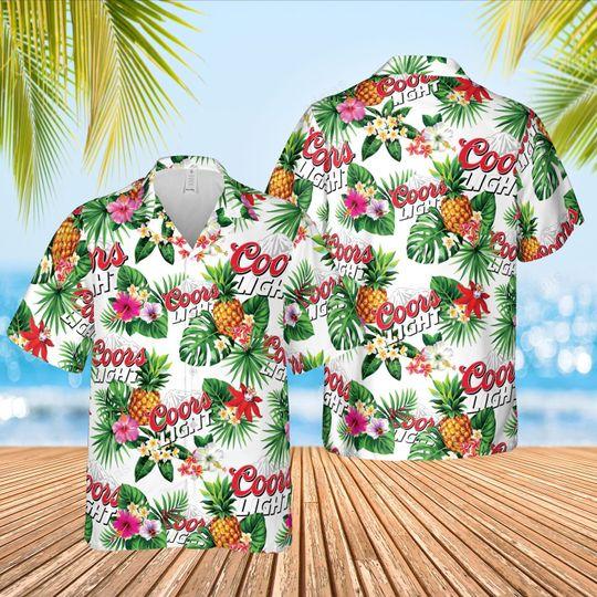 Coor lights Summer beach Hawaiian Shirt