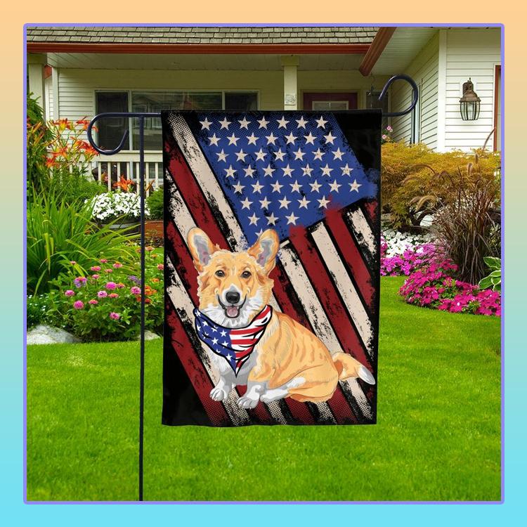 Corgi American Pride Garden Flag1