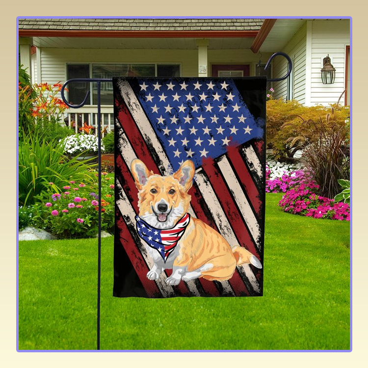 Corgi American Pride Garden Flag3