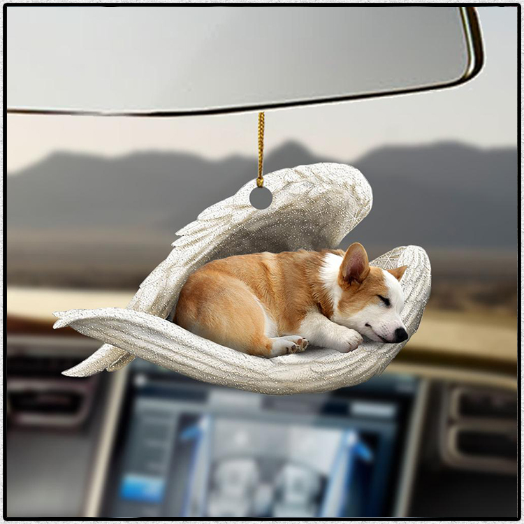 Corgi Sleeping Angel Lovers Dog Moms Ornament2