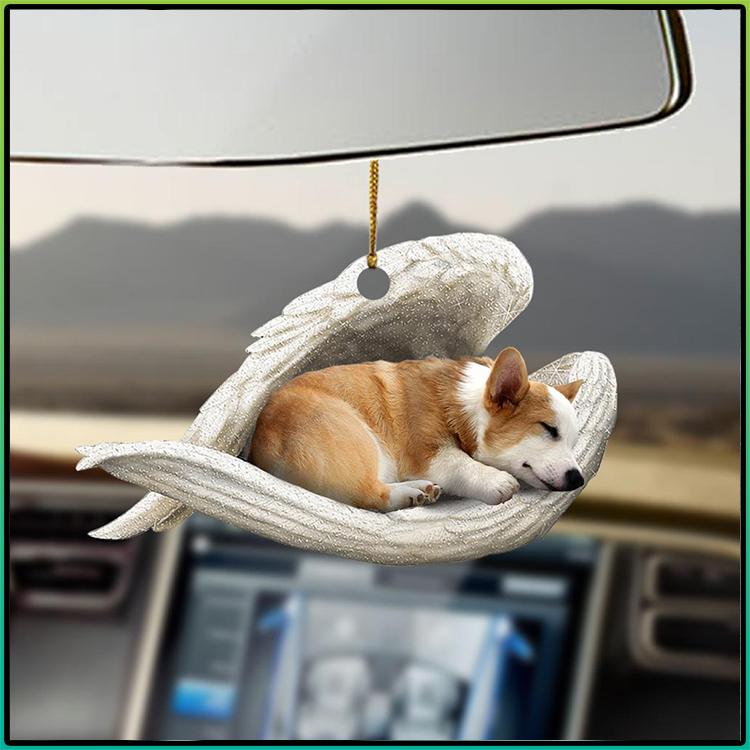 Corgi Sleeping Angel Lovers Dog Moms Ornament3