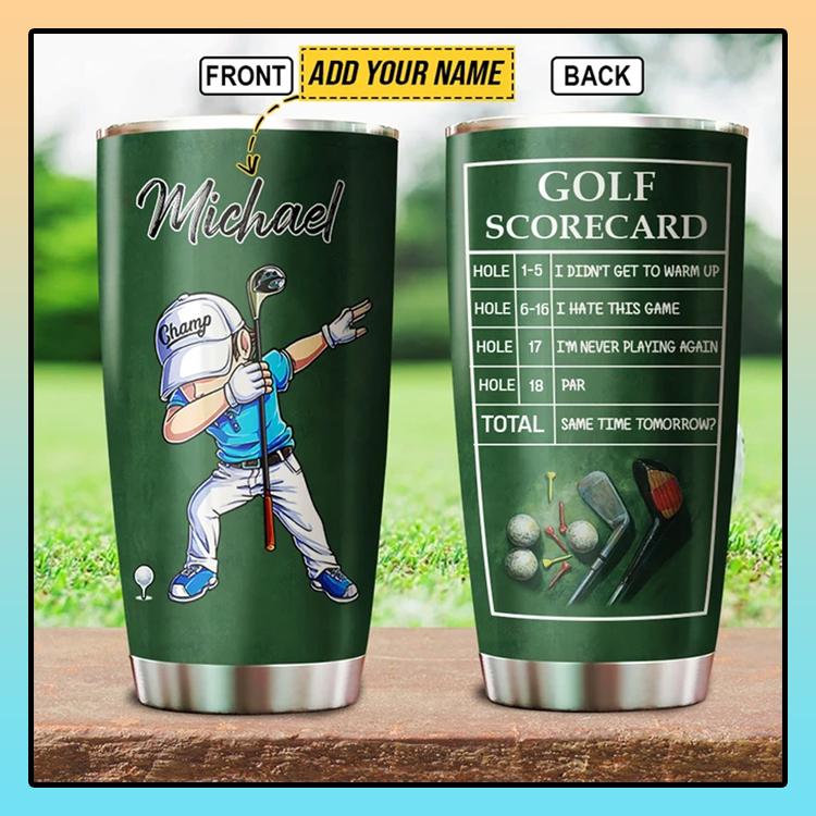 Dabbing Golf Player Golfer scorecard custom Personalized Tumbler4