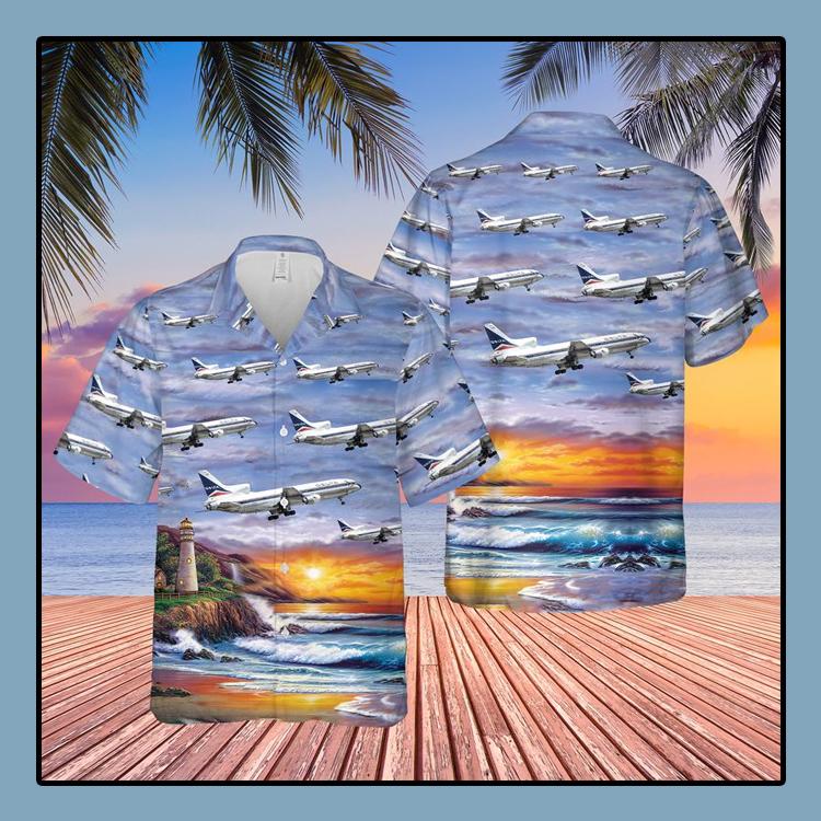 Delta Air Lines Lockheed L 1011 250 Tristar Hawaiian Shirt1